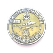 Republic Of Singapore Air Force 144 Fighter Sqn Team Blackites Coin Medallion