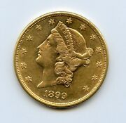 1899-s 20 Liberty Head Double Eagle Gold Coin