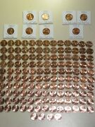 1959-2021 Lincoln Cent Set Complete Bu 142 Coins 1960-d Small Date All 7 1982