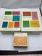 Set Of 3 Vintage Singer Accessories For Slant-needle Zig-zag Sewing Machines - P