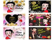 Betty Boop Banner Backdrop Image Party Decoration Printed Personalized