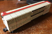 Lionel Lines 6376 Circus Animal Train Box Car O Gauge Red And White Plastic Used