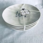 Rae Dunn Bbq Party Delish Picnic Set 4 Melamine 8 Lunch Snack Plates Nwts