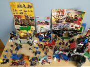 Vintage Lego Lot Medival Pirates Space - Dozens Of Minifigures And More