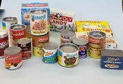 Vintage Pretend Play Food Miniatures Grocery And Doll Accessories Lot Cans Boxes