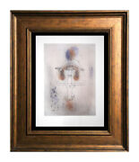 """Paul Klee Lithograph Color Limited Ed. """"singer Of The Comic Opera W/frame Incl."""