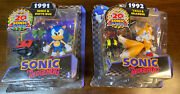 Sealed Nib Sonic And Moto Bug 1991 Tails And Grabber 1992 20th Anniversary Figures