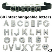 Custom Choker Kit - 80 Letter Charms + 2 Chokers For Personalized Customized