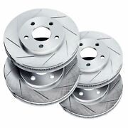 Brake Rotors [2 Front + 2 Rear] Powersport Slotted Only Disc Bm14753