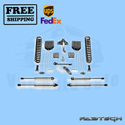 6 Basic Syst W/ Ss Shocks Fabtech For Ford F450 4wd 10 Lug Chassis Cab 11-13