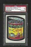 Wacky Packages 1973 Series 1 Chock Full O Nuts Psa 5 Black Ludlow Back Rare