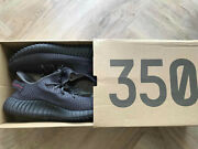 Adidas Yeezy Boost 350 Black Static Non-reflective Size 10.5 Us
