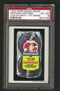 Wacky Packages 1973 Series 1 Hostage Psa 6 Black Ludlow Back Rare Only 1 Higher