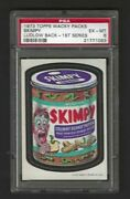 Wacky Packages 1973 Series 1 Skimpy Psa 6 Black Ludlow Back Rare 1 Of 1