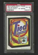 Wacky Packages 1973 Series 1 Tied Detergent Psa 4 Black Ludlow Back Rare
