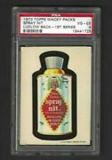 Wacky Packages 1973 Series 1 Spray Nit Psa 4 Black Ludlow Back Rare