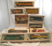 Lot Bachman Ho Train Cars Gear Bridge Poles Signs Powerpack Track Untested As Is