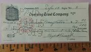 1945 Ossining Trust Company Illustrated Check New York Westchester Co. Ny