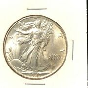 1947 Walking Liberty Half Dollar Choice Bu