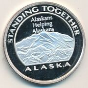 1991 Alaska Teamsters 50 Years Service/standing Together 1 Oz 999 Silver Round