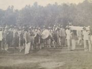 Rppc Funeral Death Manila Mourning Coffin Casket Military Band Real Photo