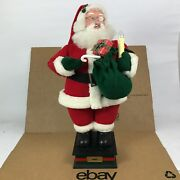 Holiday Creations Santa Claus 1993 Animated Figure Moving Light Gift Candle 8.b5