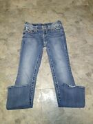 Women's Vigoss The New York Slim Boot Jeans Tag Size 5/6x35 Measures 32.5x33 50n