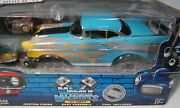 '57 Chevy Muscle Machines Build It Kit 118 And 164 Blue W/flames Diecast Mib