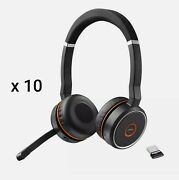 Lot Of 10 Brand New Jabra Evolve 75 Bluetooth Wireless Headset Noise Cancelling