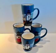 Mixed Lot David Carter Brown By The Sea Lighthouse Mugs 4