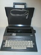 Smith Corona Sc110 Portable Electric Typewriter W/ Case Parts Or Repair Only