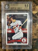 2011 Topps Update Us175 Mike Trout Rc Bgs 9.5 Gem Mint Mvp Angels