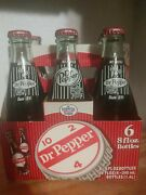 6 Pack Glass Bottle Dublin Dr Pepper 8 Oz. Imperial Cane Sugar Retro Collectible