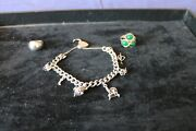 3 Items Costume Jewellery - 2 Rings And A Charm Bracelet