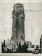 1933 Press Photo Shrine Of The Little Flower Crucifix Stone Monument In Michigan