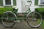 Schwinn Hollywood 1970 Bicycle Green Bell Made In Chicago Usa Rideable Ef58037