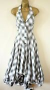 Alexander Mcqueen Mcq 42 Tartan Check Hitched Parachute Halter Fit And Flare Dress
