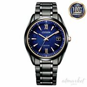 Citizen Exceed Watch As7164-99l Menand039s Black Blue Analog Round Face Waterproof