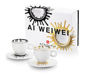 Illy Art Collection 2021 -ai Weiwei -2 Cappucinno Cups - Exclusive Offer Rare