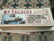 Vintage Rare Very Large S.s. Talacre Scale 148 Wood And Plastic Model Ship Kit