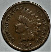 1868 Indian Head Cent Us 1c Penny Coin Lot 215