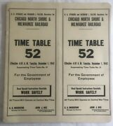 1942 Employee Timetable For The Chicago, North Shore And Milwaukee Railroad