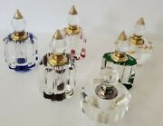 6 X Vintage Designs And Colors, Glass Perfume Bottles, 3 Tall, Gift Collectible