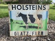 Huge Vintage 48andrdquox39andrdquo Holsteins Cow Farm Dairy Sign
