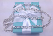 New And Co. Double Chain Two Row 18 24 Inch Necklace Sterling Silver 925