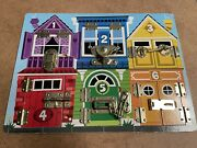 Melissa And Doug Wooden Latches Board Latch Locks Doors Windows Puzzle Game