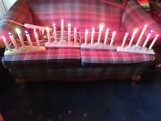 Vintage Christmas 5 Light Candelabras Window Candle Candolier Electric Lot Of 4
