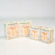 Vintage 1978 Crabtree And Evelyn London Sea Shell Soap In Box 2 Sm 2 Lg = 5.6oz