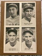1936 Exhibit 4 On 1 New York Yankees - Lou Gehrig Gomez Lazzeri And Red Ruffing