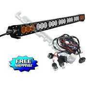 38 Inch Combo Led Light Bar Dual Color Lamp Stroboflash Offroad Suv 4wd Truck 40